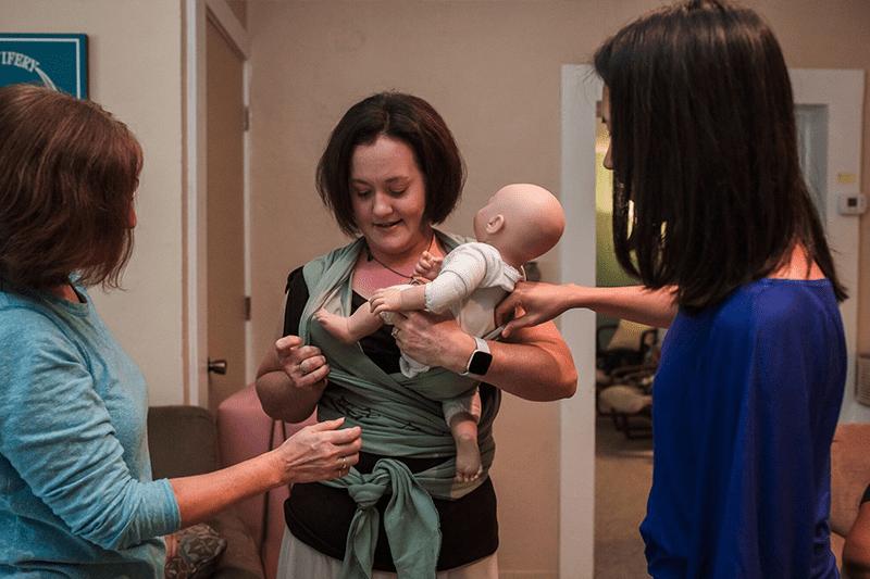 babywearing practice session